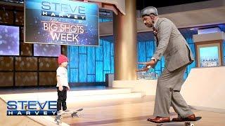 Little Big Shots: Who wants to see Steve skateboard? || STEVE HARVEY
