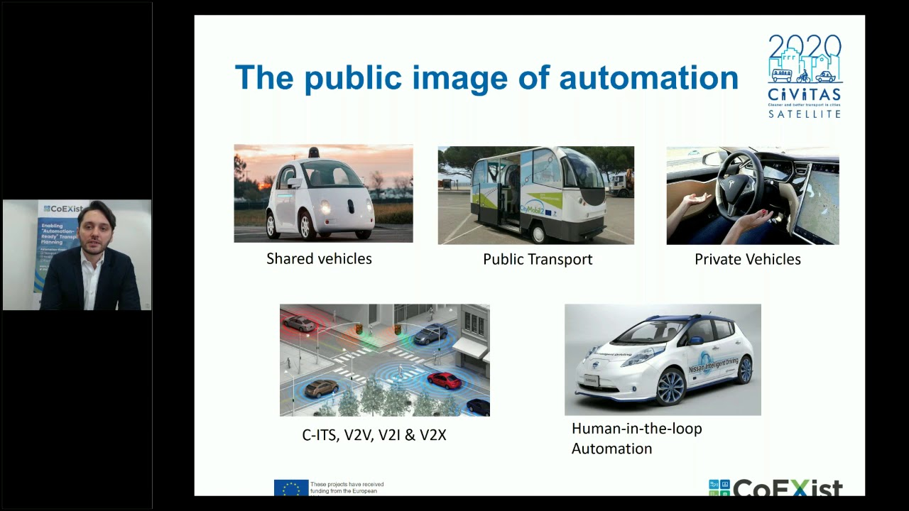 CIVITAS SATELLITE Webinar: Introduction to Connected and Automated Driving CAD in Cities