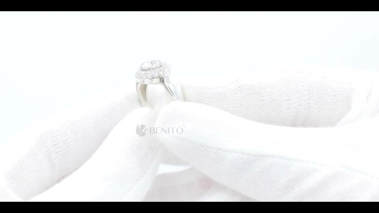 Laura Ring  White Zircon Stones