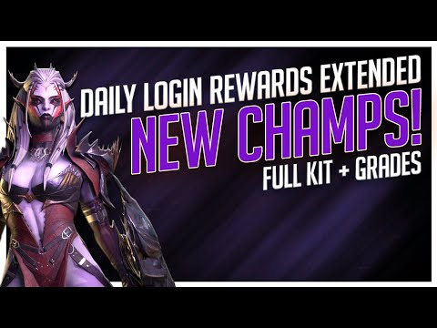 RAID | NEW DAILY LOG IN REWARDS IN JULY?! | GRADING NEW CHAMPS!