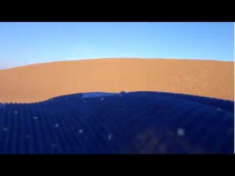Blue turban moving with the wind in Erg Chegaga Dunes, part 1 – Sahara Desert Morocco