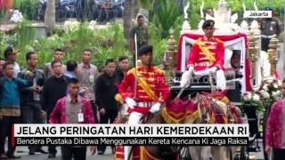 Jokowi Tinjau Gladi Bersih Upacara Bendera HUT ke-71 RI