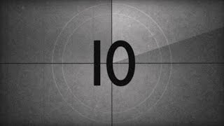 OLD MOVIE COUNTDOWN ( v 551 ) film intro 10 sec with sound effect 4k TIMER