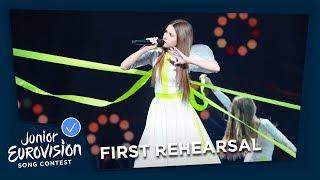 Roksana Węgiel - Anyone I Want To Be - First Rehearsal - Poland 🇵🇱 - Junior Eurovision 2018