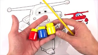 COLORINDO O JETT DOS SUPER WINGS COM TINTA