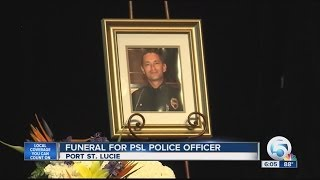 Funeral for Port St. Lucie police officer George Larson Lee Rehm