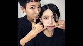 韩国最�Les情侣,�河娜和金景�