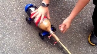 Soda Geyser Car Rocket! Cool Science Experiment