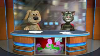 Talking tom and ben news barney gets sentido go bed early goanimate 2017