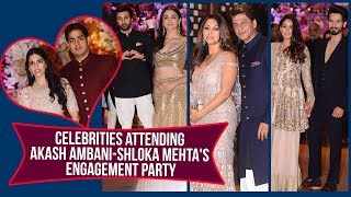 Alia Bhatt, Ranbir Kapoor, Shah Rukh Khan attend Akash Ambani-Shloka Mehta Engagement Party