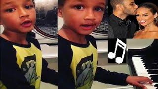 "Swizz Beatz & Alicia Keys SON Egypt has Musical Talent already ""SUPER BOY"" 🎹🎶❤️"