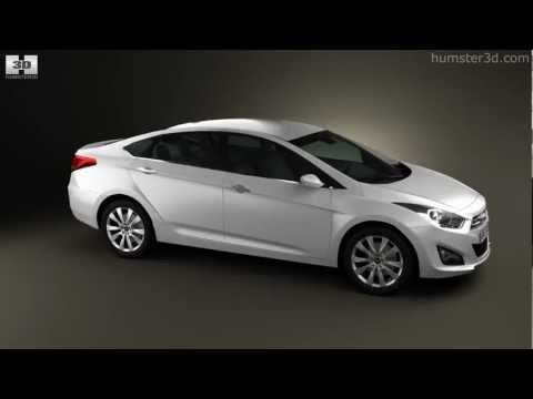 Hyundai i40 sedan 2012 by 3D model store Humster3D.com