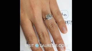 4 carat Radiant Cut Diamond Engagement Ring