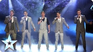 Collabro are singing Stars   Britain's Got Talent 2014 Final