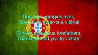 Portugal National Anthem English lyrics