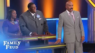 Kevin puts his FINGER on it!!! | Family Feud