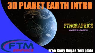 Free 3D Sony Vegas Template - 3D PLANET EARTH INTRO