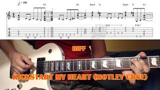 Kickstart My Heart RIFF (Motley Crue) GUITAR LESSON with TAB
