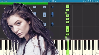 Lorde - Green Light - Piano Tutorial / Cover