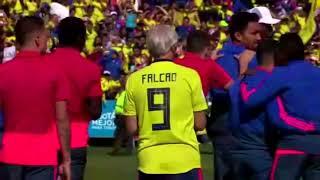 Colombia recibe a su seleccion mundialista en el estadio El Campín de Bogotá