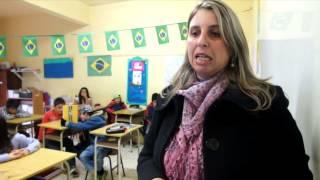 Meditação para a paz na Escola Nossa Senhora de Fátima, em Gramado