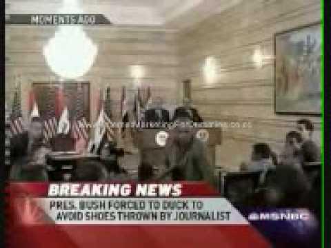 Shoes thrown at Bush in Iraq ( www.Aku-Sempoi.blogspot.com )