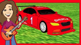 Vroom Goes the Red Race Car Children's song | R Sounds | Patty Shukla