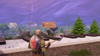 Fortnite Battle Royale - All Sheet Music & Piano Locations  + Solutions (Season 6 Challenges)