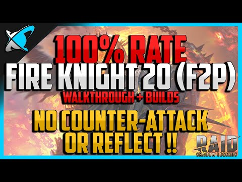 RAID: Shadow Legends | 100% WIN RATE FIRE KNIGHT 20 | Walkthrough + Builds | F2P