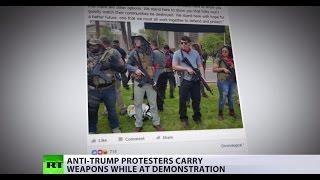 All guns blazing? Anti-Trump protesters tote rifles at demonstration in Arizona