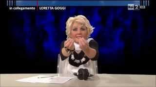 Loretta Goggi (Lucia Ocone) - Quelli che il calcio 09/11/2014
