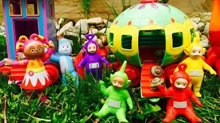 NINKY NONK Snail Ride With TELETUBBIES and In The Night Garden!