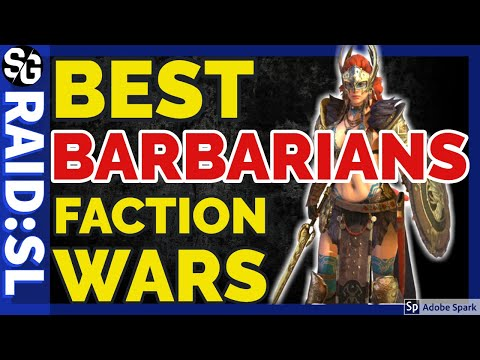 [RAID SHADOW LEGENDS] BARBARIANS FACTION WAR TOP PICKS PLUS GAMEPLAY