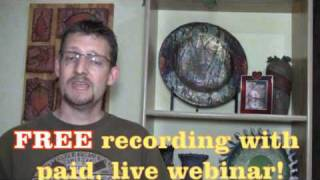 "July 7th 2010 ""Live"" Webinar Raked-Glass Raku & Raffia Raku with Michael Harbridge"