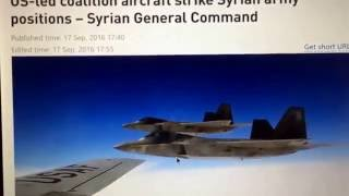 Breaking News US Bombs Syrian Army