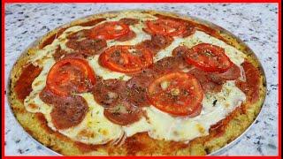 VOCÊ NÃO IMAGINA DO QUE É FEITO ESSA PIZZA! NÃO VAI FARINHA DE TRIGO!!!
