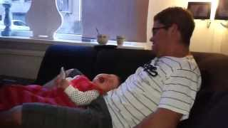 Baby crying with Daddy ( FUNNY )