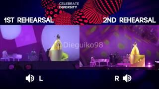 1st vs 2nd Rehearsal - Switzerland - Eurovision 2017
