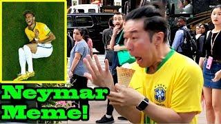 NEYMAR Meme Challenge in PUBLIC!!! (Neymar rolling)