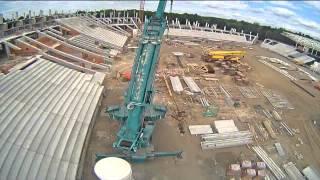 Így épül a debreceni stadion