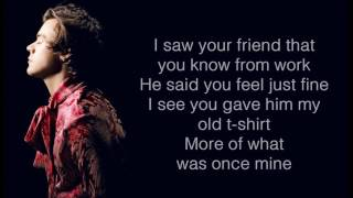 Harry Styles - From The Dining Table (Lyrics & Pictures)