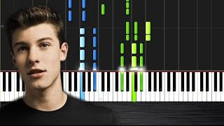 Shawn Mendes - Stitches - Piano Cover/Tutorial by PlutaX - Synthesia