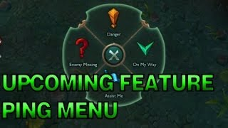 Upcoming Feature - Ping Menu - League of Legends