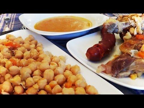 Cocido madrileño, un clasico en Madrid,  paso a paso.