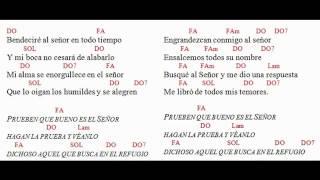 Salmo 33 Con letras y Acordes en DO T1