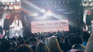 "Ariana Grande and Mac Miller - The Way (HD) Live ""One Love"" Manchester 4.6.17   Samantha Barlow"