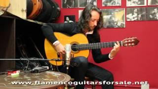 El Perla plays the Josemi Carmona´s Vicente Carrillo 2008 flamenco guitar for sale