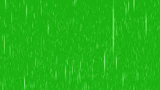 Rain effect green screen