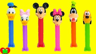 Mickey Mouse Club House Pez Dispensers with Minnie Mouse and More width=