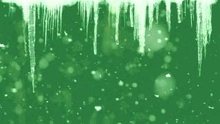 green screen snow and icicles